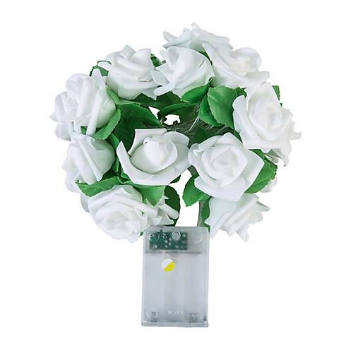 Новинка 20 светодиодная роза цветок струна гирлянда свадьба дом день рождения день святого валентина вечеринка гирлянда декор люминария