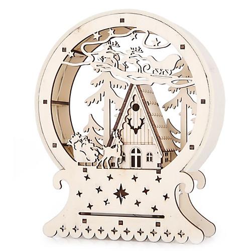 Новинка деревянный дом лесной лось светящиеся домики креативный подарок настольный декор рождественские украшения для домашней вечеринки светодиодное освещение