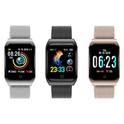Мужчина женщина Смарт Часы Android iOS Bluetooth Водонепроницаемый Сенсорный экран Пульсомер Измерение кровяного давления Спорт