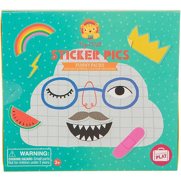 Набор для творчества с наклейками Tiger Tribe, Смешные лица\