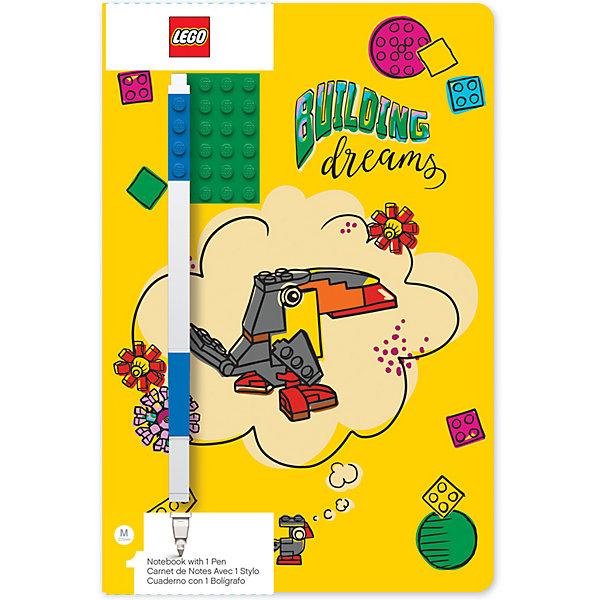 Записная книжка с ручкой LEGO Classic Building Dreams, 192 листа