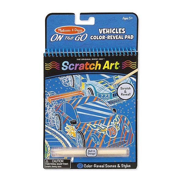 Цветная книга Melissa #and# Doug Scratch Art Транспорт