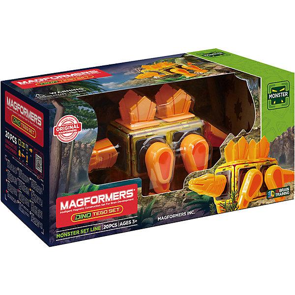 Магнитный конструктор 716001 Dino Tego set, MAGFORMERS