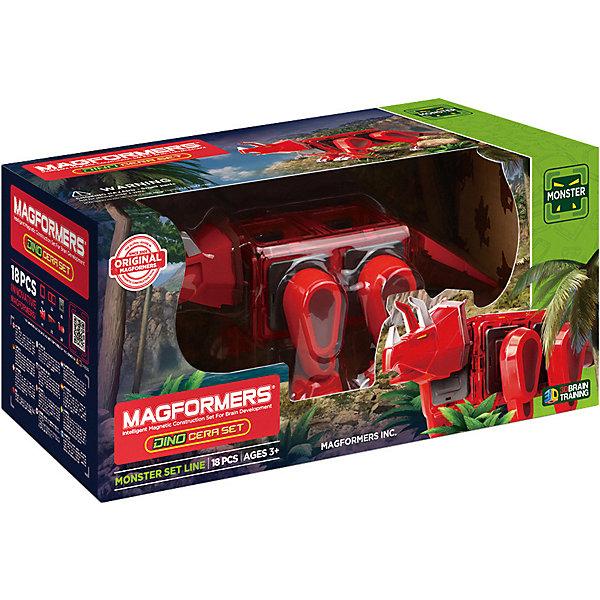 Магнитный конструктор 716002 Dino Cera set, MAGFORMERS
