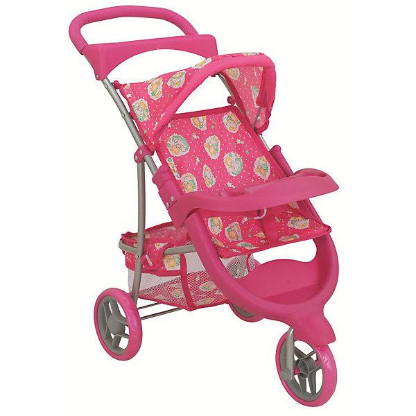Коляска трехколесная для кукол Buggy Boom Nadin трансформер, розовая
