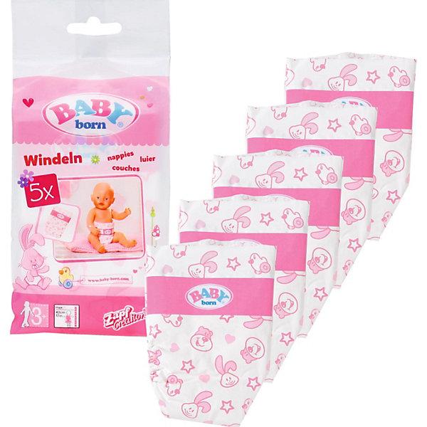 Памперсы для куклы Zapf Creation Baby born, 5 шт