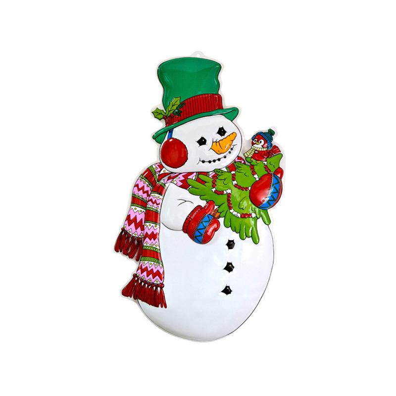 Панно Снеговик с Елкой (48х86 см)