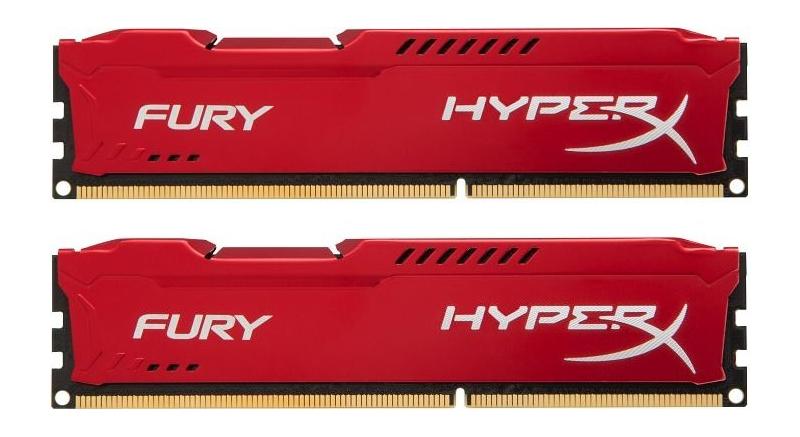 Модули памяти KINGSTON HYPERX FURY RED SERIES PC3-12800 DIMM DDR3