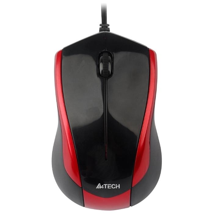 Мышь A4Tech N-400-2 Red-Black USB