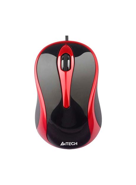 Мышь A4Tech N-350-2 Black-Red USB
