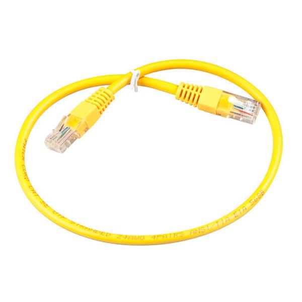 Сетевой кабель ExeGate UTP cat.5e 1m Yellow 258671