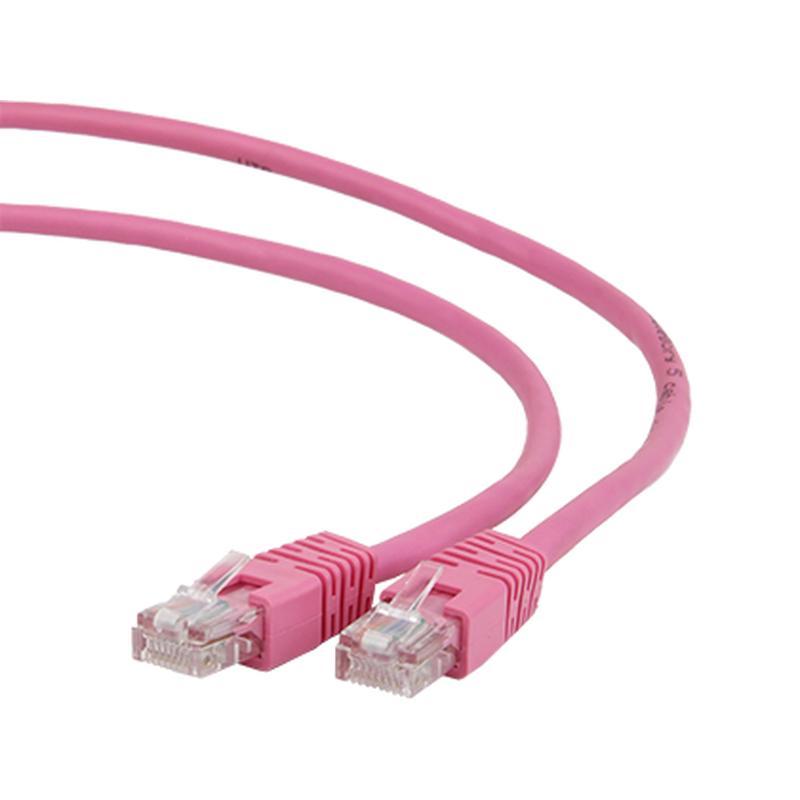 Сетевой кабель Gembird Cablexpert UTP cat.5e 0.5m Pink PP12-0.5M/RO