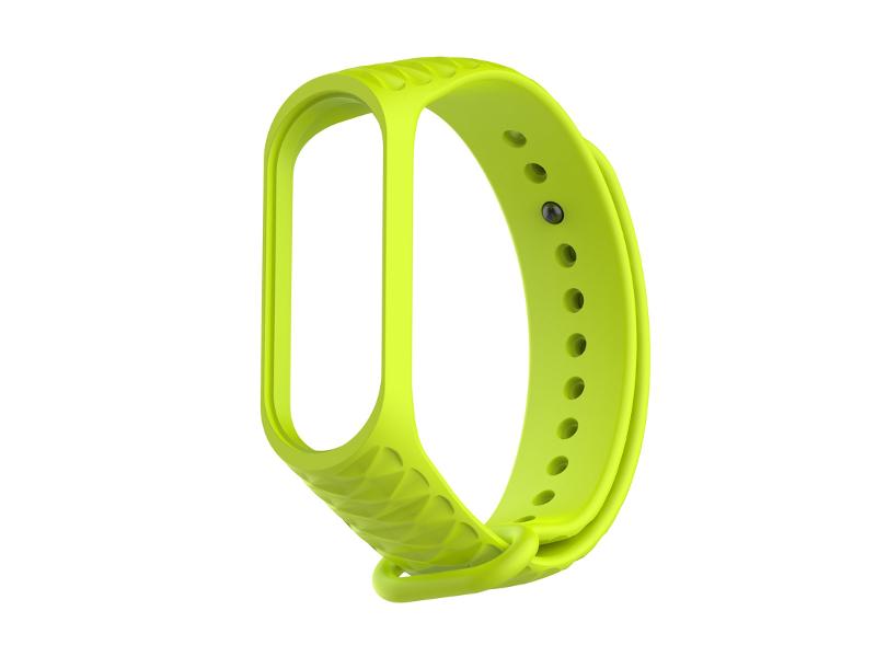 Ксессуар Ремешок Activ for Xiaomi Mi Band 4 / Mi Band 3 Silicone Рельеф Green 90377