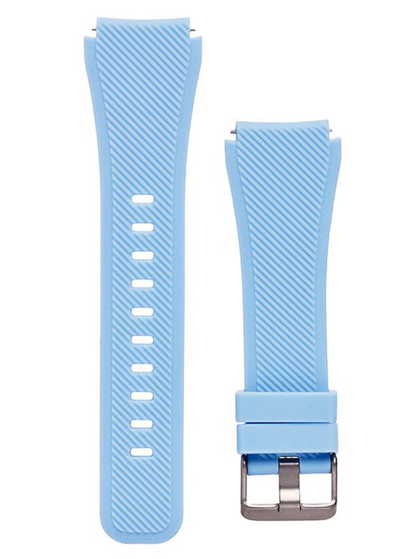 Аксессуар Ремешок для Samsung Gear S3 Frontier/Gear S3 Classic/Galaxy Watch 46mm Activ Silicone Light Blue 93086