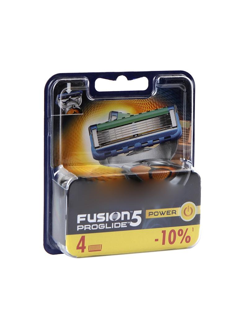 Сменные кассеты Gillette Fusion ProGlide Power 4 шт 81469906