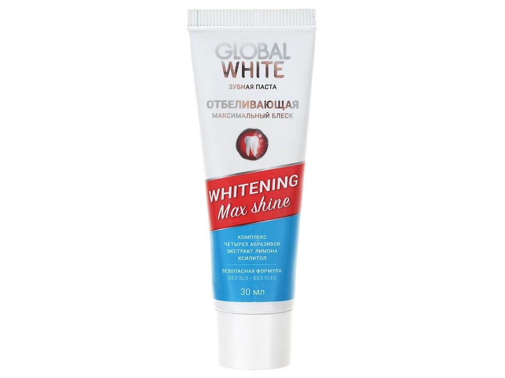 Зубная паста Global White Whitening Max Shine 30ml 4605370003673