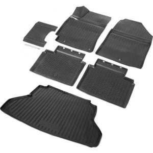 Комплект ковриков салона и багажника Rival для Hyundai Elantra VI седан (2016-2019 / 2019-н.в.), полиуретан, без крепежа, K12301002-1