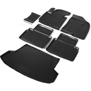 Комплект ковриков салона и багажника Rival для Hyundai ix35 5-дв. (2010-2016), полиуретан, без крепежа, K12304002-1