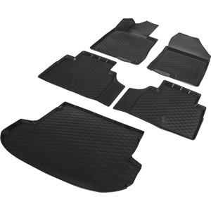 Комплект ковриков салона и багажника Rival для Hyundai Santa Fe IV 5-дв. (5 мест) (2018-н.в.), полиуретан, без крепежа, K12306006-4