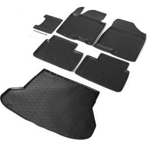Комплект ковриков салона и багажника Rival для Kia Ceed II универсал (2012-2018), полиуретан, без крепежа, K12801004-1