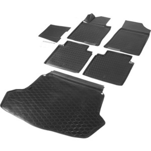 Комплект ковриков салона и багажника Rival для Kia Optima IV седан (Classic и Comfort) (2016-2018 / 2018-н.в.), полиуретан, без крепежа, K12807001-2