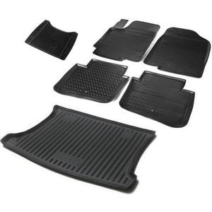 Комплект ковриков салона и багажника Rival для Kia Rio III хэтчбек (2011-2017), полиуретан, без крепежа, K12803001-8