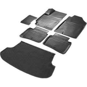 Комплект ковриков салона и багажника Rival для Kia Rio IV хэтчбек X-line (2017-н.в.), полиуретан, без крепежа, K12305007-9