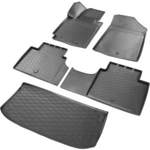 Комплект ковриков салона и багажника Rival для Kia Soul II хэтчбек 5-дв. (2013-2019), полиуретан, без крепежа, K12806001-2