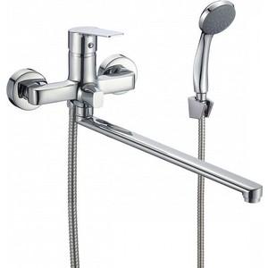 Смеситель для ванны Milardo Helic с длинным изливом и душем, хром (HELSB02M10)