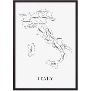 Постер в рамке Дом Корлеоне Карта Италии 50x70 см