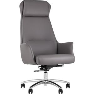 Кресло руководителя TopChairs Viking серое A025 DL001-22