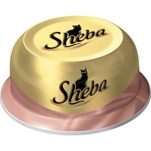 Консервы Sheba ассорти из сочного мяса цыпленка с уткой для кошек 80г (10116248)