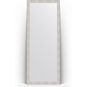 Зеркало напольное Evoform Definite Floor 78x197 см, в багетной раме - серебряный дождь 70 мм (BY 6002)