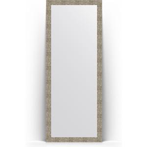 Зеркало напольное Evoform Definite Floor 78x197 см, в багетной раме - соты титан 70 мм (BY 6006)