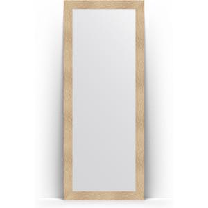 Зеркало напольное Evoform Definite Floor 81x201 см, в багетной раме - золотые дюны 90 мм (BY 6007)