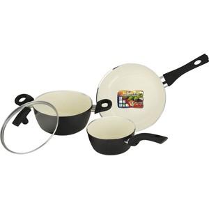 Набор посуды 4 предмета Vitesse Black-and-White (VS-2901)