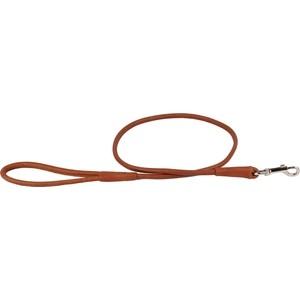 Поводок CoLLaR SOFT кожаный двойной круглый 122см*8мм коричневый для собак (04836)