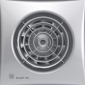 Вентилятор Soler#and#Palau осевой вытяжной с обратным клапаном D 100 (Silent100CZ Silver)