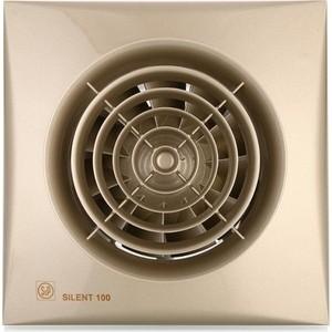 Вентилятор Soler#and#Palau осевой вытяжной с обратным клапаном D 100 (Silent100CZ Champagne)