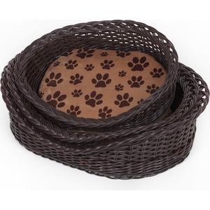Лежанка Зоофортуна корзина с порогом №1 (р-001) полиротанг для кошек и собак (48*35*13)