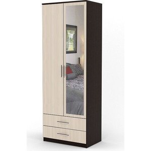 Шкаф двухдверный Гамма Дуэт 60х60 венге+вяз