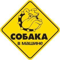 Наклейка на автомобиль светоотражающая Собака в машине