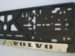 Комплект пластиковых рамок с вставкой из нержавеющей стали Volvo