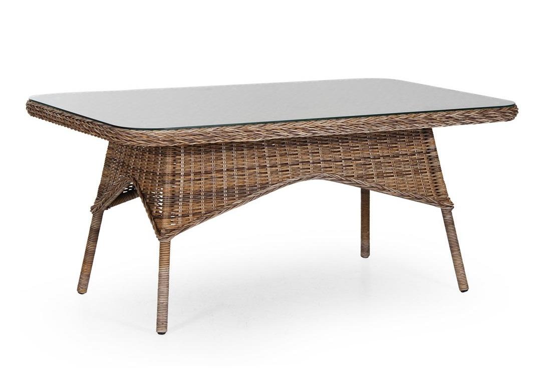 Плетеный стол Evita brown