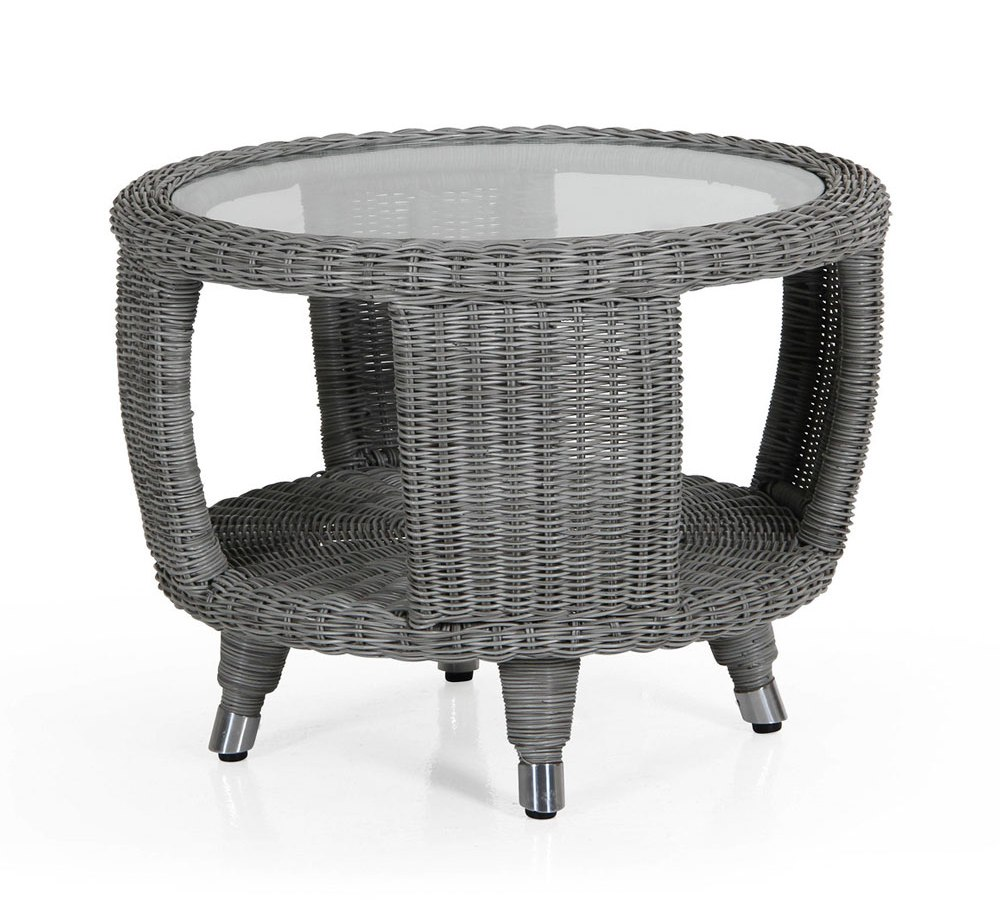 Плетеный стол Evita-Silva grey