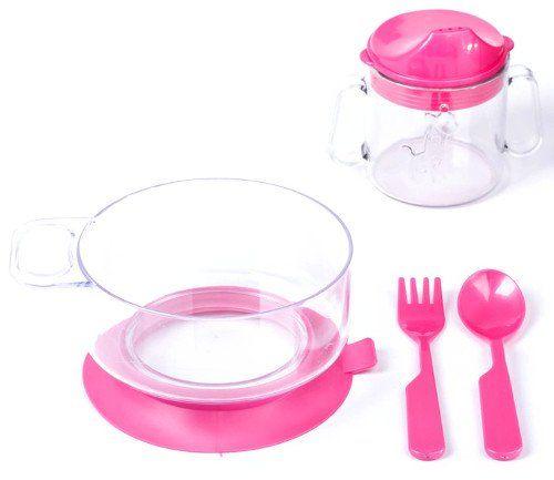 Набор детской посуды, 4 предмета, для девочки