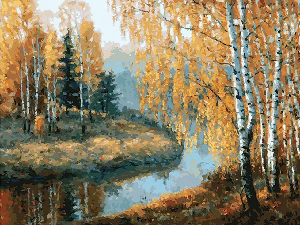 Картина по номерам «Вот и осень пришла»