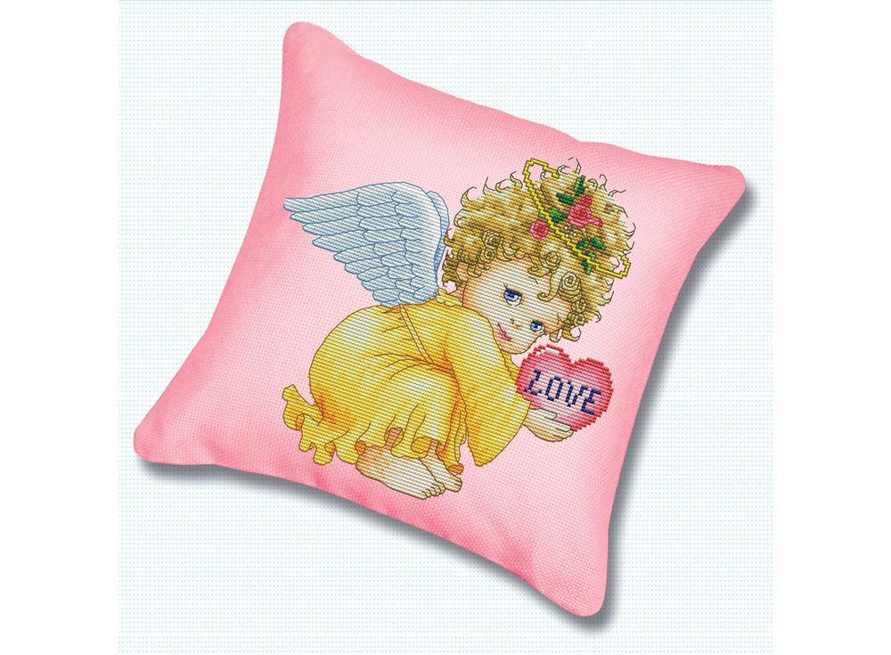 Подушка «Маленький ангел» (канва розовая)