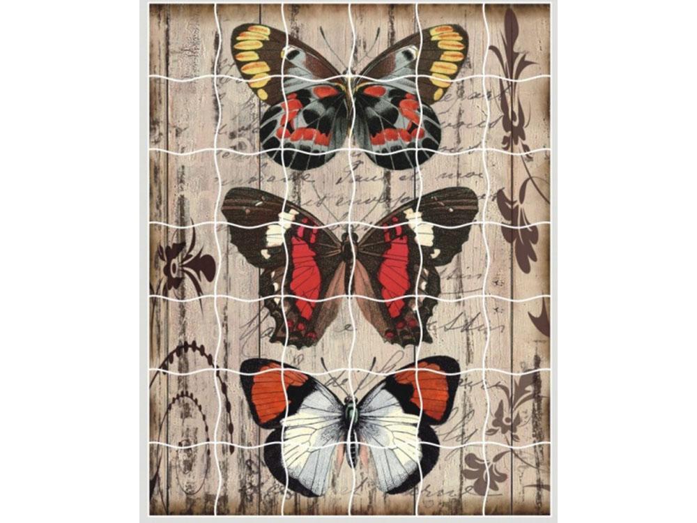 Пазлы-стикеры «Панно из бабочек»