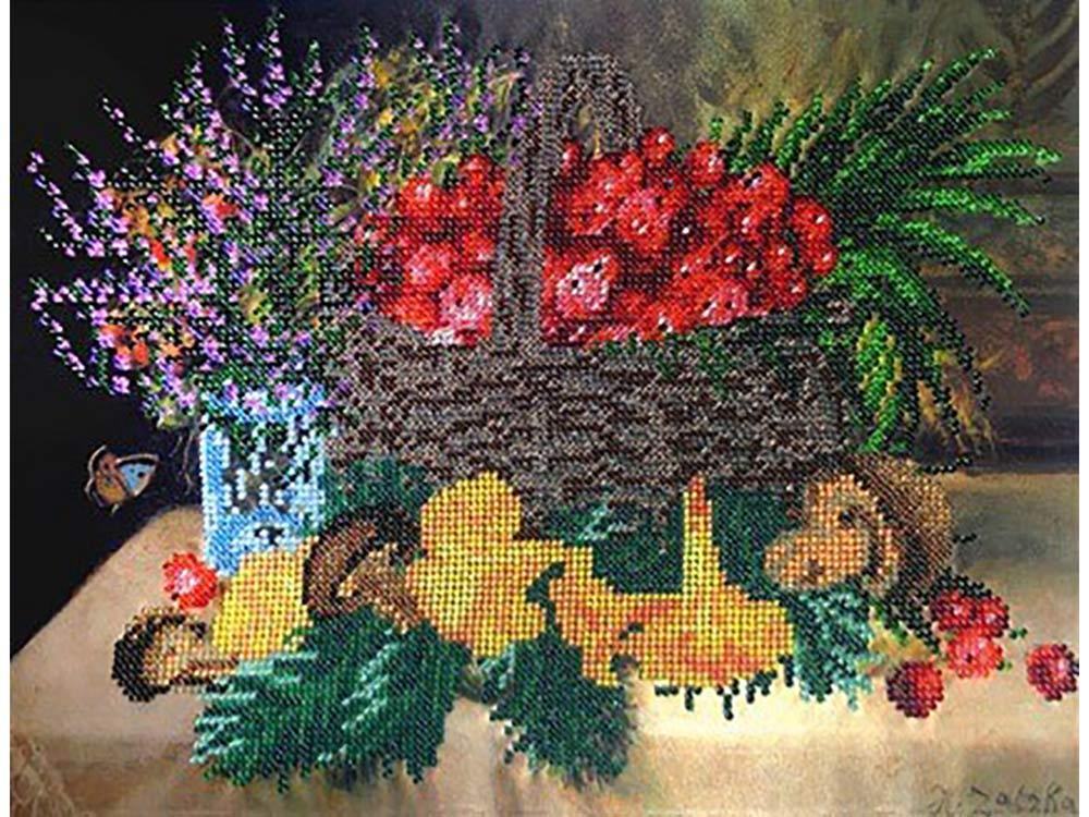 Набор вышивки бисером «Натюрморт с грибами»